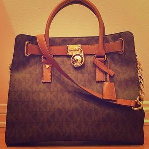 Large, Birkin-Style Michael Kors Handbag